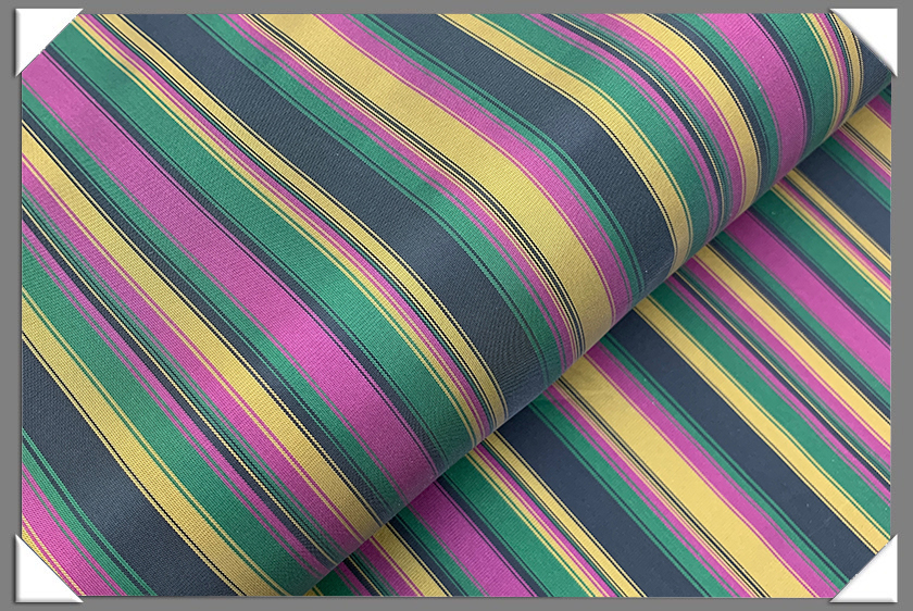 Pink/Yellow/Green Striped Lining