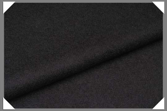 Camel Hair Fabric - Black - Click Image to Close