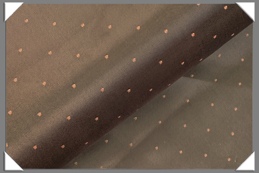 Brown Polka Dot Lining