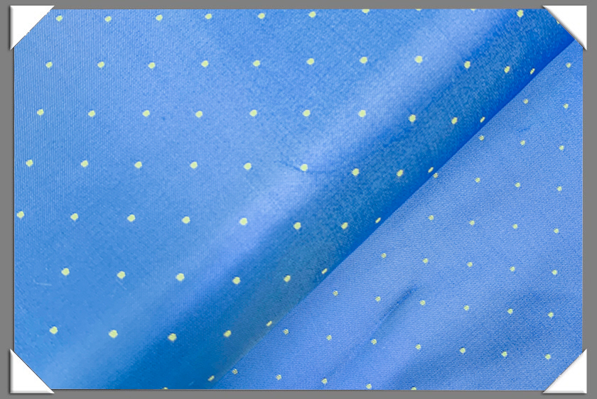 Blue/Gold Polka Dot Lining